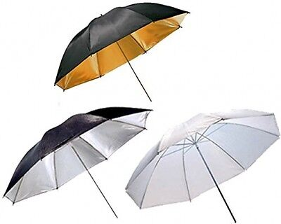 3 X 33 Inch Professional Kit With Umbrella Shoot Through Diffuser/Reflective -