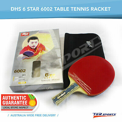 2 x DHS 6002 Table Tennis / Ping Pong Bats Rackets Paddles Long Handle 6 Star