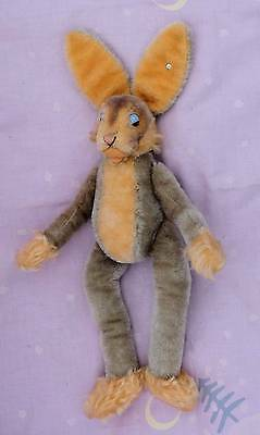 SUPERB OLD STEIFF RABBIT 'LULAC' BUTTON IN EAR 1960S - 1970s