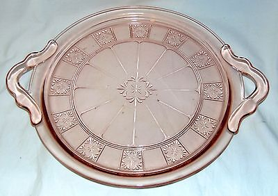 """Jeannette DORIC PINK *10"""" HANDLED TRAY*"""