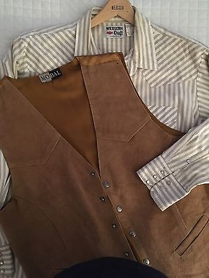 Men's Leather Vest & C/W Shirt - Used 3x On Stage- Bought In TX