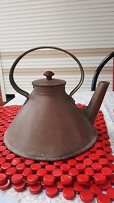 Vintage or Antique Copper Ships Kettle ~ Rustic Old Tea Decorative Collectable