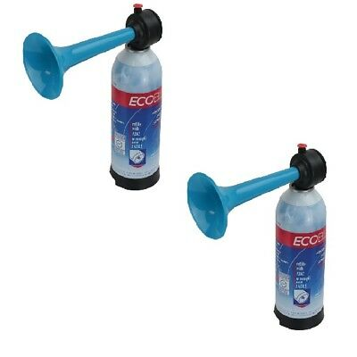 2 x Air Horns Hand Held Pump, Sports Safety Air Horn Loud and rechargeable