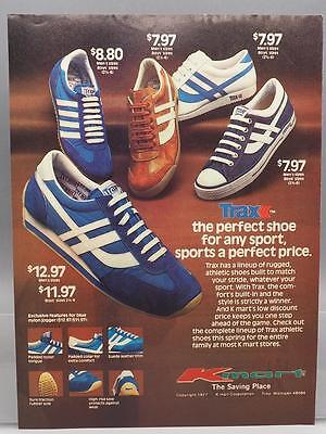 Vintage Magazine Ad Print Design Advertising KMart Trax Shoes