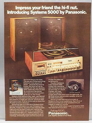 Vintage Magazine Ad Print Design Advertising Panasonic Systems 5000 Stereo
