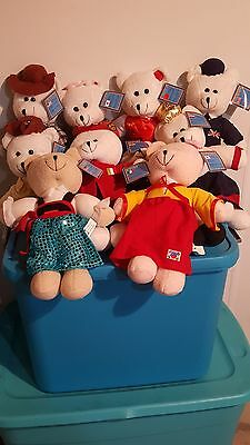 RARE antique world of bears collectible teddy bears set of 10