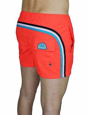 "Costume Uomo Sundek Original Bs/rb 13"" Shorts Pantaloncino Mare Fluo Orange"
