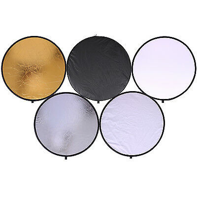 CY 30cm 5 in 1 Portable Collapsible Light Multi Photography Reflector for Studio
