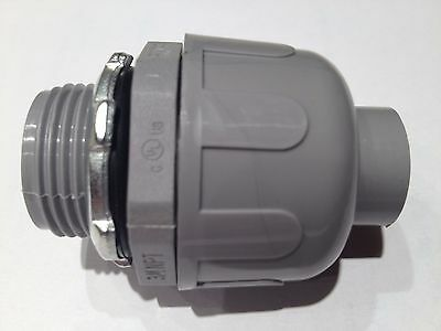 "3/4""  Non-Metallic Liquid Tight Conduit Straight Fitting / Connector 25"