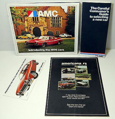 1970s American Motors AMC Advertising Brochures Ambassador Javelin AMX Gremlim +