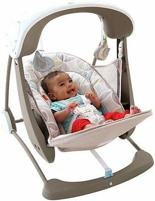 Fisher-Price Deluxe Take Along Swing and Seat Soothing 6 Speed Swing portable