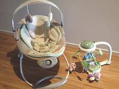 ingenuity baby bouncer And Fisher Price Light Projection Nursery Mobile