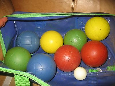 Bocce Ball set in bag used blue green