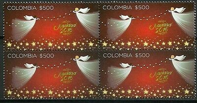 O) 2016 Colombia, Angels Of Christmas, Truwhite Paper, Invisible Fluorescent, Bl