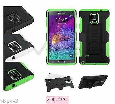 Samsung Galaxy Note 4 Hybrid ShockProof Rubber Protective Hard Case Cover Stand