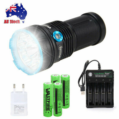 Rechargeable VASTFIRE 40000LM 12 XM-L T6 LED Flashlight Torch Work Lamp 4*18650