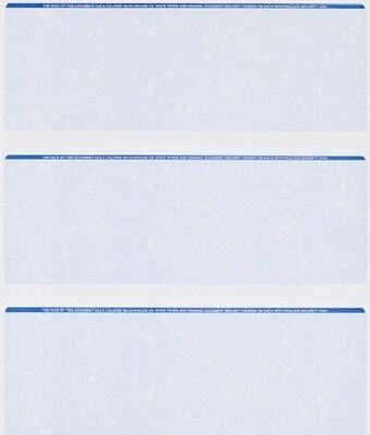 25 Sheets - 75 Checks  Blank Check Stock Paper - Blue - Three (3) on a Page