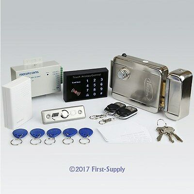 Remote Controlled RFID Card Access Control Kit + Electric Lock+ 2Remote Controls