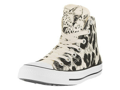 Converse Women's Chuck Taylor All Star Animal Print Hi Parchment/Black/White