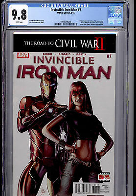 Invincible Iron Man #7 Cgc 9.8  1St Appearance Of Riri Williams 1St Print
