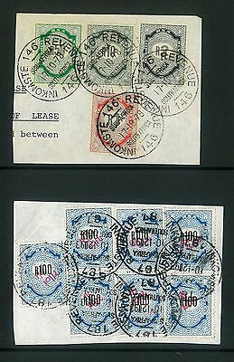 REVENUE - Sth Africa 1978 mixed values to R100 on pieces (white & rice paper)
