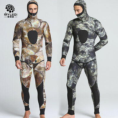 5mm warm two piece spearfishing wetsuit for men including long john and jacket