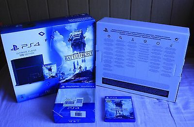 Sony PS4 Playstation 1 TB  OVP Leerverpackung mit Spiel Star Wars Battlefront
