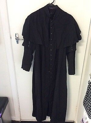 Vintage cassock gothic coat with cape