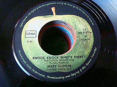 """7"" Mary Hopkin - Knock Knock Who's There / I'm Going To Fall In Love"