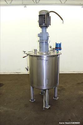 """Used- Tank, Approximately 80 Gallons, 304 Stainless Steel, Vertical. 30"""" Diamete"""