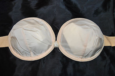 WOW RARE Vintage 40s-50s DARING Strapless Wired Bra Pointed cup.34B? Great