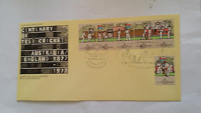 Australia 1977 Centenary of Test Cricket First Day Cover MCG Cancel