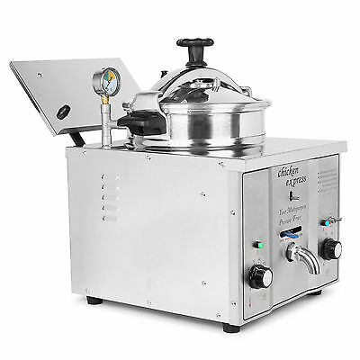16L Automatic Pressure Fryer Electric Countertop Meat Vegerable Thermostat