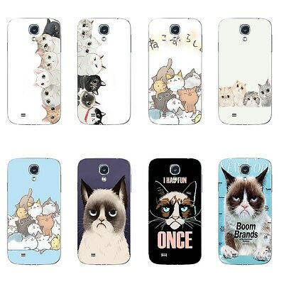Cases For Samsung Galaxy S4 Soft TPU Silicone Protective Back Cover Cats Party