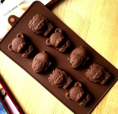 aus seller...CUTE LIONS HIPPOS & BEARS  CHOCOLATE/SOAP  SILICONE MOULD new