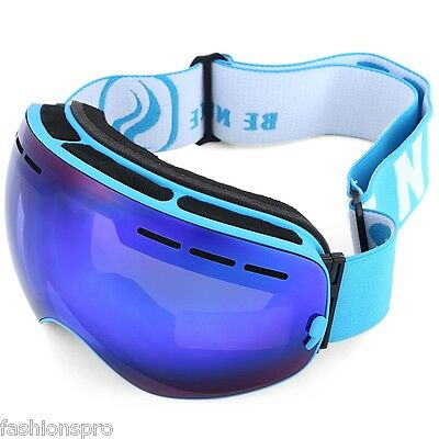 BENICE Double Lens UV400 Anti-fog Big Spherical Skiing Glasses Snow Goggles