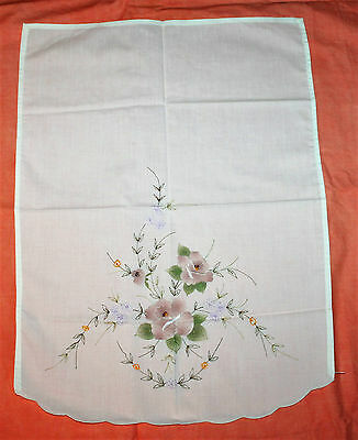 Vintage Embroidered And Hand Painted Tray Cloth