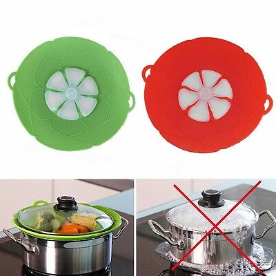 New Cooking Kitchen Silicone Pot Cover Saucepan Lid Anti Overflow Splash Tool TV