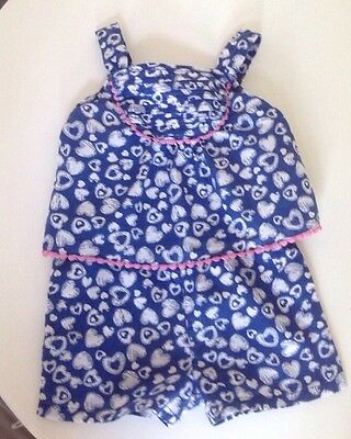 9-12 months baby girl blue floral summer playsuit