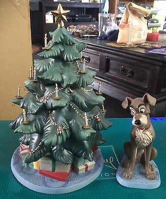 WDCC Tramp & Tree At Home for Christmas - Lady And The Tramp