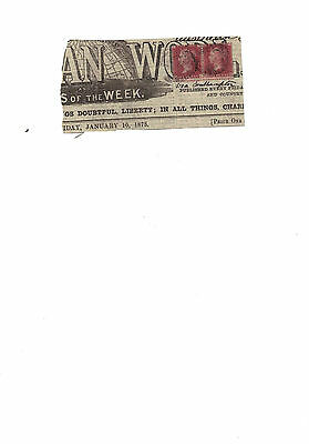 Discounted Sg43/44 Plate 157 - 2 Queen Victoria Stamps On Newspaper