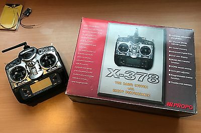 JR PROPO X-378 Transmitter with 2.4Ghz FrSky DHT with Receiver D4R-II - NIB