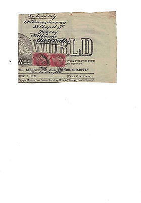 Discounted Sg43/44 Plate 120 - 2 Vertical Pair Queen Victoria Stamps Newspaper