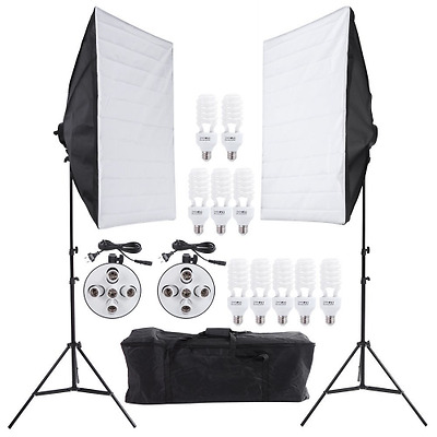 Andoer® studio fotografico illuminazione continua di video kit photography