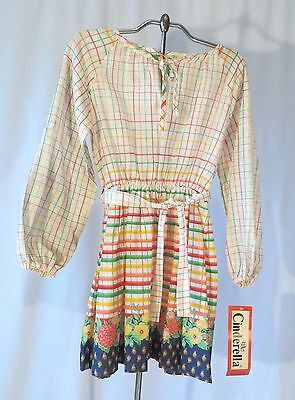 Vintage 70 Girls Dress Peasant Style Dead Stock sz 10 Cinderella