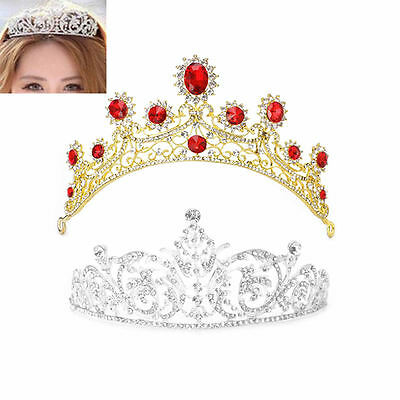 Bridal Wedding Rhinestone Tiara Wedding Crown Veil Headband Hair Accessories