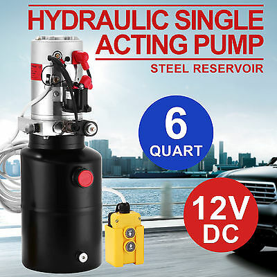 Hydraulic Single Acting Pump 12V DC 6L Power Pack Electric 3200PSI Dump Trailer