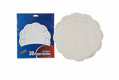 30 x 18-20 cm 7-8 Inch Round Paper Lace Doilies Catering Party Wedding Doyleys