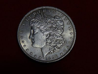 1896 American Silver Dollar - Extremely Fine Coin.