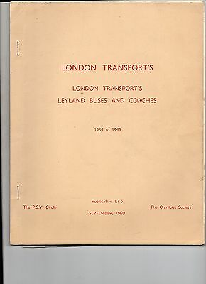 London Transport's Leyland Buses & Coaches 1934 - 1949